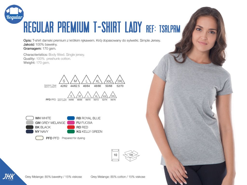 T Shirt Damski Gładki 8 Kolorów