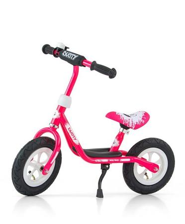 """Rowerek Biegowy Dusty 10"""""""" Pink-White (51138, Milly Mally)"""