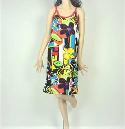 Sukienka Plażowa Bawełna GEOMATRIX M