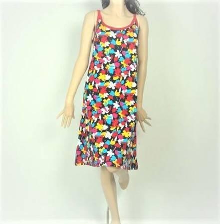Sukienka Plażowa Bawełna KROKUSY MIX L