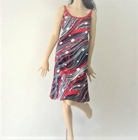 Sukienka Plażowa Bawełna LINIE GROSZKI L