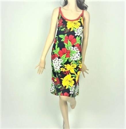 Sukienka Plażowa Bawełna OGRÓD FOLKLOR 1XL
