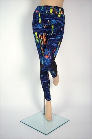 legginsy fitness siłownia PASTELLO BLUE S-XL