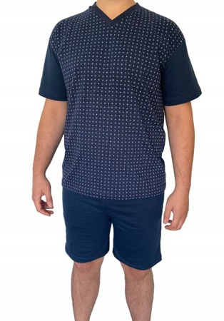 piżama męska JANUSZ - GRANAT 3XL-5XL