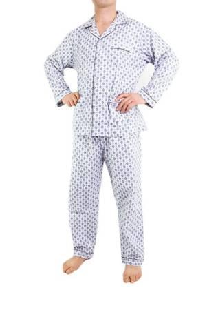 piżama męska flanelowa ODCIENIE SZAROŚCI M-5XL